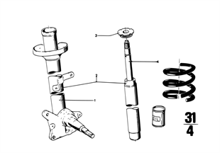 Pružicí jednotka přední/tlumič nárazů