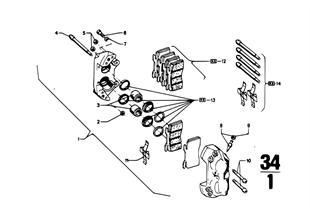 앞 휠 브레이크-브. 캘리퍼/브. 패드