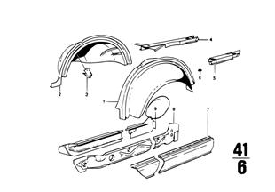 Radhaus hinten/Einstieg Einzelteile