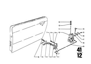 Puerta delante-bisagra/freno de puerta