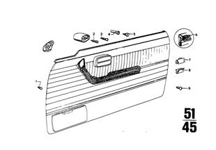 Armstütze-Einzelteile