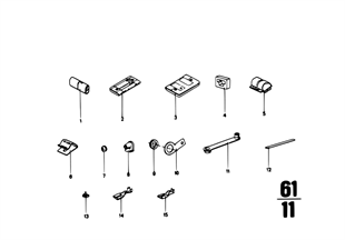 Various plug terminals/cable grommet
