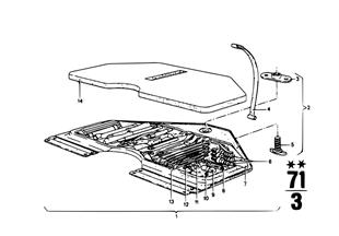 Palubní nářadí/skříň na nářadí