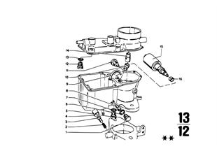 Gicleur/kit de juntas do carburador