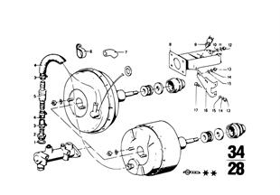 Bremskraftverstärker Unterdruck