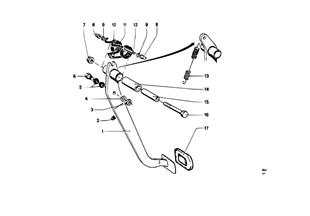 Pedal-Yatak mesnedi/Debriyaj pedalı