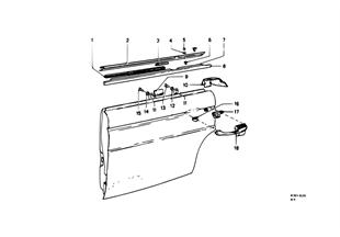 Puerta trasera — bisagra/retentor puerta