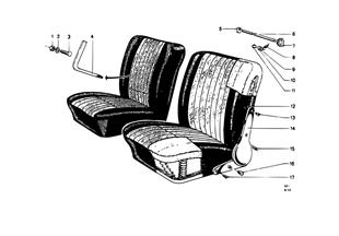 シート、F シート操作部 個別部品