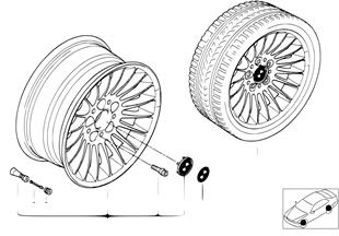 BMW light alloy wheel, radial spoke 61