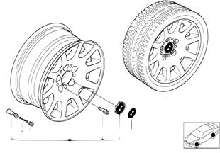 BMW light alloy wheel, ellips. styl. 60