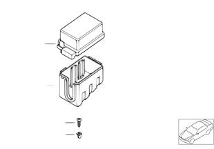 Caixa de fusíveis/suporte de relé