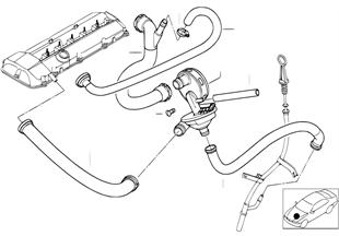Motor bloğu havalandırması/Yağ ayırıcı