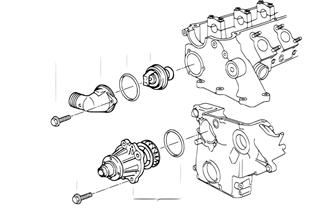 Σύστημα ψύξης — αντλία νερού/θερμοστάτης