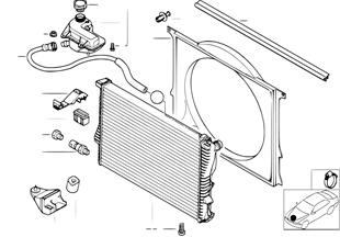 Radiateur/vase d'expansion/cadre