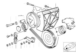 W ポンプ/A/C コンプレッサー用ベルト