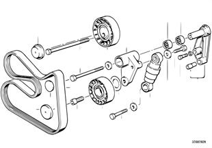 Řem.pohon pro vodní čerpadlo/alternátor