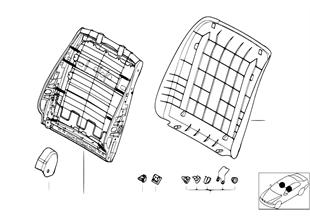 앞 시트-등받이 프레임/리어 패널