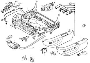 前部座椅 座椅骨架 機械傳動/電動/部件