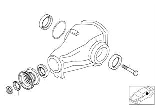 Antriebsflansch-Lagerung/Dichtring