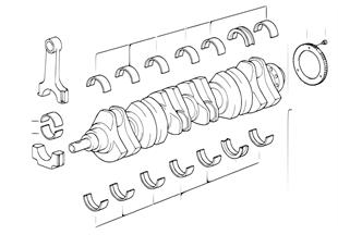 Krukas drijfwerk-krukas met lagerschalen