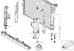 라디에이터-고정용 부품