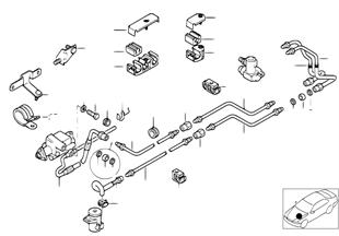 Niveauregulierung/Leitungen vorne