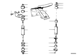 Suspension moteur — silentbloc moteur