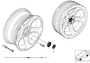 BMW LM Rad Sternspeiche 69