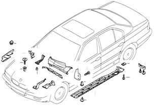 Piezas de carroc./travesano/comp.motor