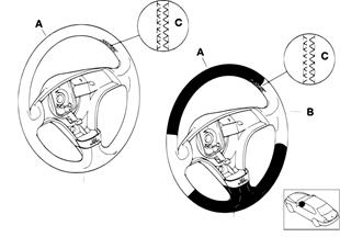 Volante deportivo individ. airbag, SA 255
