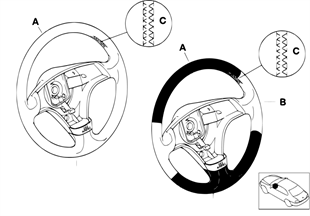 Individ. sportstuurwiel, airbag, SA 256