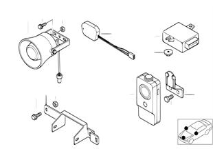 Jednotlivé díly simplexní telefon