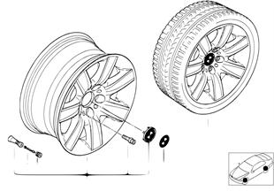 BMW LA wheel, star spoke 70