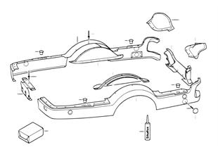 Trailer, individual parts, plastic parts