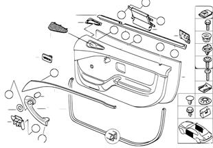 도어 트림 패널,개별 부품