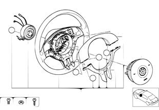 Sportlenkrad Airbag mit Dekorabdeckungen