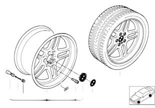 BMW light alloy whl, M parallel spoke 37