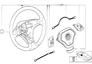 Многофункц.спортив.рулевое колесо с НПБ