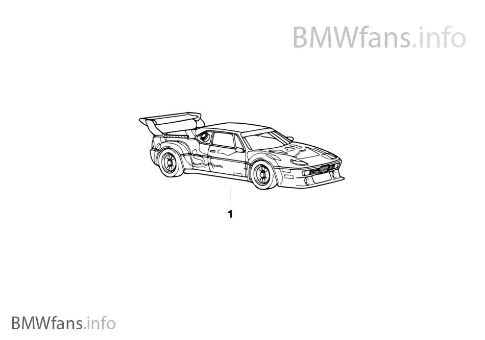 "BMW ミニチュア 1:18 ""Art Car"""