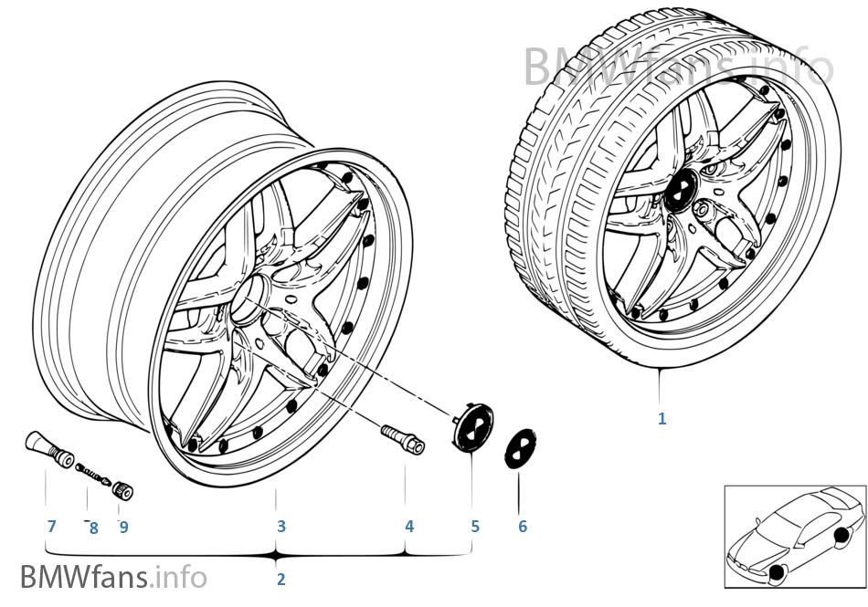 BMW 컴파운드휠,더블스포크 71