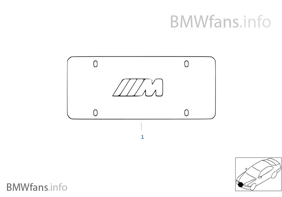 License plate frame   BMW 3\' E36 M3 S50 USA