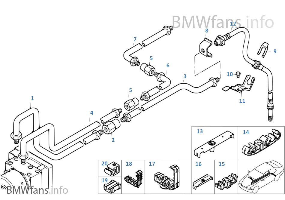 Bmw E46 Rear Brake Pipes