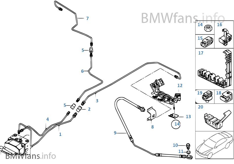 bmw brake line diagram