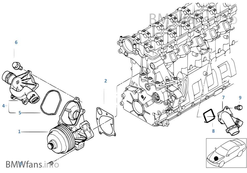Pompa Wody Ukł Chłodn Termostat Bmw X5 E53 X5 3 0d M57 Europa